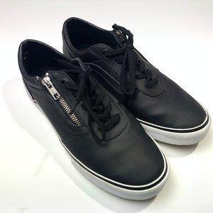 VANS black shoes zipper/lace up